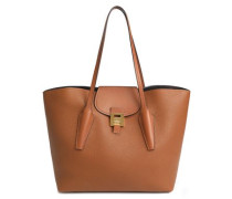 Bancroft Smooth And Pebbled-leather Tote Camel Size --