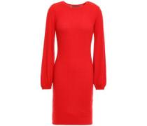 Ribbed Modal-blend Mini Dress Tomato Red
