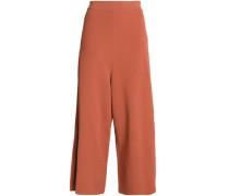 Stretch-ponte wide-leg pants