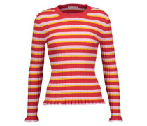 Chandler striped ribbed-knit sweater
