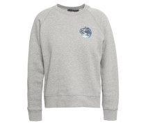 Printed French Cotton-terry Sweatshirt Gray