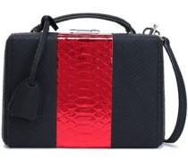 Two-tone Python Shoulder Bag Black Size --