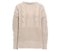 Woman Cable-knit Cashmere Sweater Cream