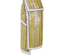 Sequined silk-chiffon wrap skirt