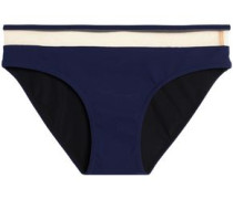 Mesh-trimmed low-rise bikini briefs