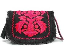 Leah embellished fringed shoulder bag