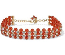 Cervinia Gold-tone, Quartz And Crystal Choker Red Size --