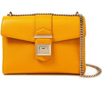 Woman Marianne Pebbled-leather Shoulder Bag Saffron