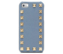 Studded textured-leather iPhone case