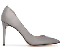Metallic patent-leather pumps