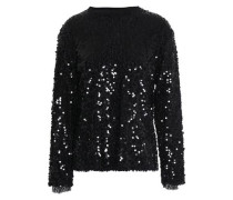 Sequined tulle top