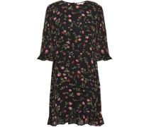 Woman Elm Ruffle-trimmed Printed Georgette Mini Dress Black