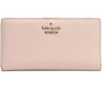 Textured-leather continental wallet