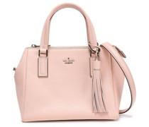 Tasseled Textured-leather Shoulder Bag Baby Pink Size --