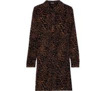 Woman Juliet Leopard-print Devoré-velvet Mini Dress Animal Print