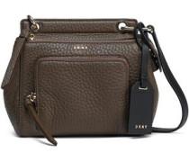 Pebbled-leather shoulder bag