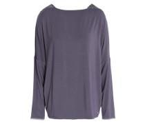 Seductive Comfort lace-trimmed stretch-modal pajama top