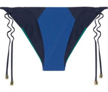 Savannah Sunset low-rise color-block bikini briefs
