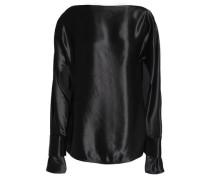 Satin-crepe blouse