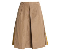 Pleated taffeta skirt