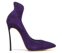 Suede Pumps Purple