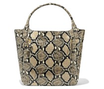 Woman Vere Snake-effect Leather Tote Animal Print