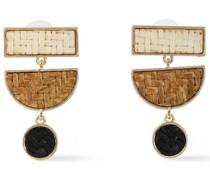 Gold-tone woven earrings