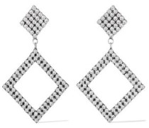 Beta Oxidized Silver-plated Crystal Earrings Silver Size --
