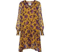 Abalena printed georgette mini dress