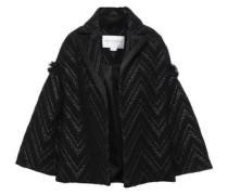 Woman Frayed Cotton-blend Tweed Jacket Black