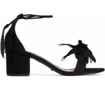 Appliquéd suede sandals