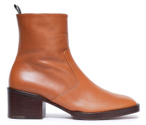 Woman Leather Ankle Boots Tan