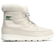 Carinival Fleece-trimmed Waterproof Shell Snow Boots Off-white