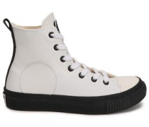 Plimsoll Leather High-top Sneakers Ivory
