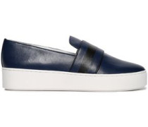 Leather Slip-on Sneakers Royal Blue