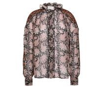 Printed Silk Shirt Black