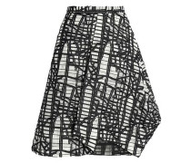 Flared jacquard skirt