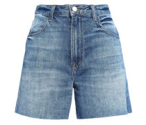Joan Faded Denim Shorts Mid Denim  3
