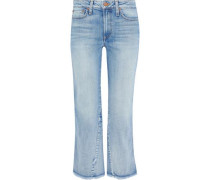 Nothing To Lose Mid-rise Kick-flare Jeans Light Denim  4