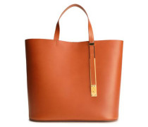 The Exchange East West Leather Tote Camel Size --