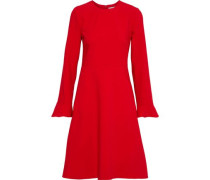 Woman Flared Cady Dress Red