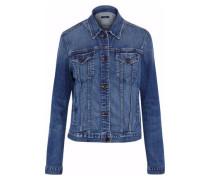 Revoke distressed denim jacket