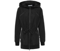 Tiered Shell Hooded Jacket Black