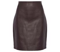 Donkin Leather Mini Skirt Dark Brown
