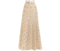 Woman Goldie Metallic Lace Maxi Skirt Gold