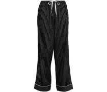 Checked Flannel Pajama Pants Black
