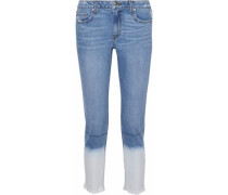 Mila Cropped Dégradé Mid-rise Slim-leg Jeans Light Denim  4