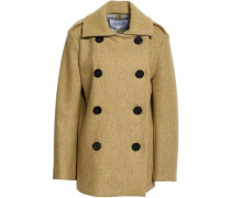 Double-breasted Wool-blend Coat Sage Green