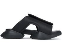 +Adidas cutout shell sandals