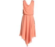 Draped silk crepe de chine dress